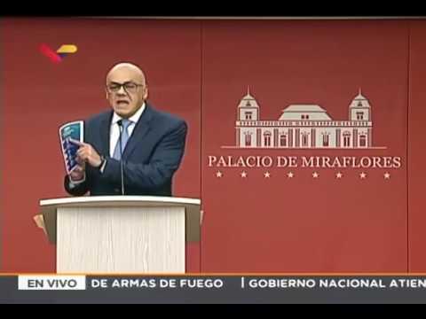 Rueda de prensa de Jorge Rodríguez, ministro venezolano de comunicación, 29 agosto 2018