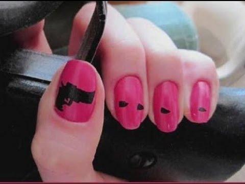 Nail art gun and bullets nail art tutorial youtube prinsesfo Images