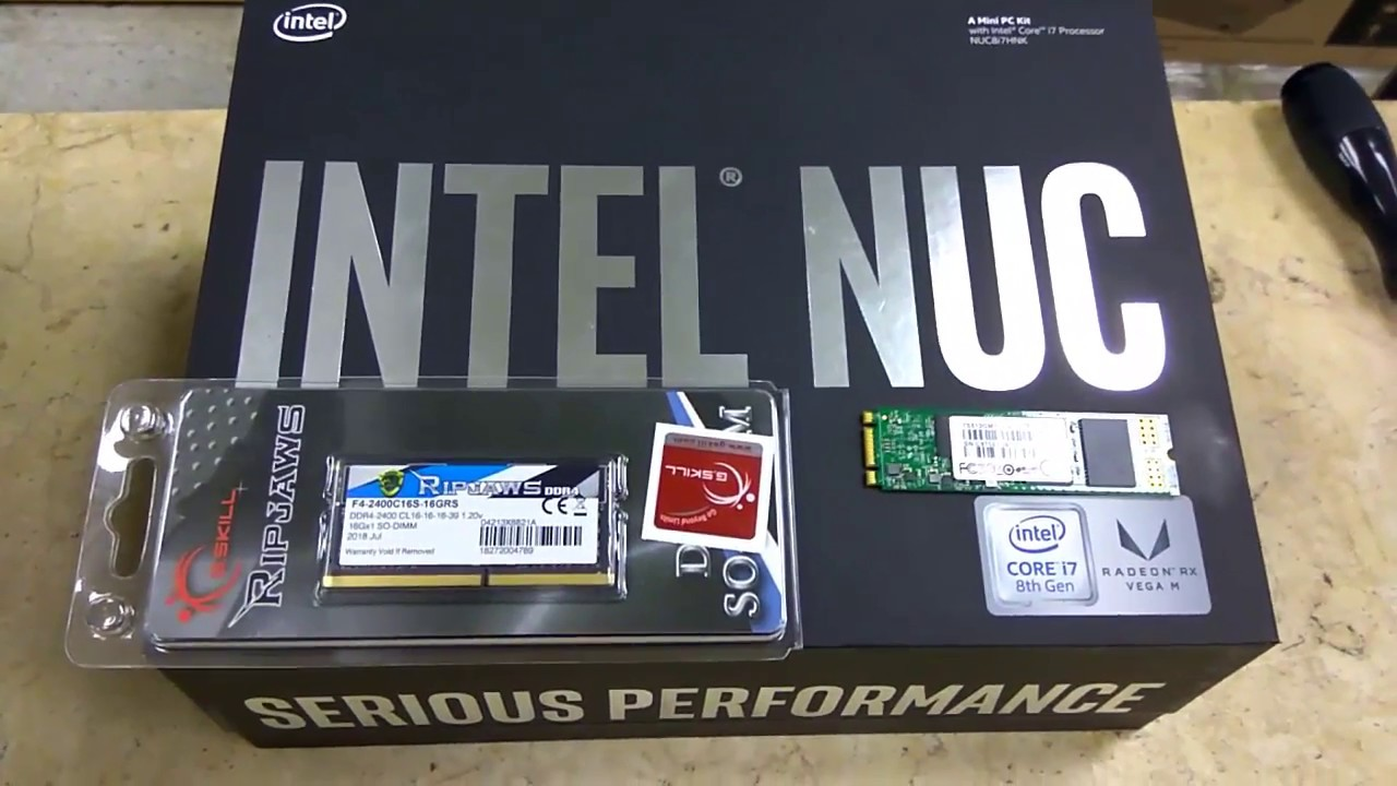 Hades Canyon Nuc NUC8i7HVK Core i7 How to Installing Ram and M 2 powerful  Mini Pc | Tech Land