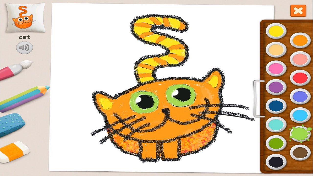 Развивающее видео для малышей - Раскраска котик Memollow ...