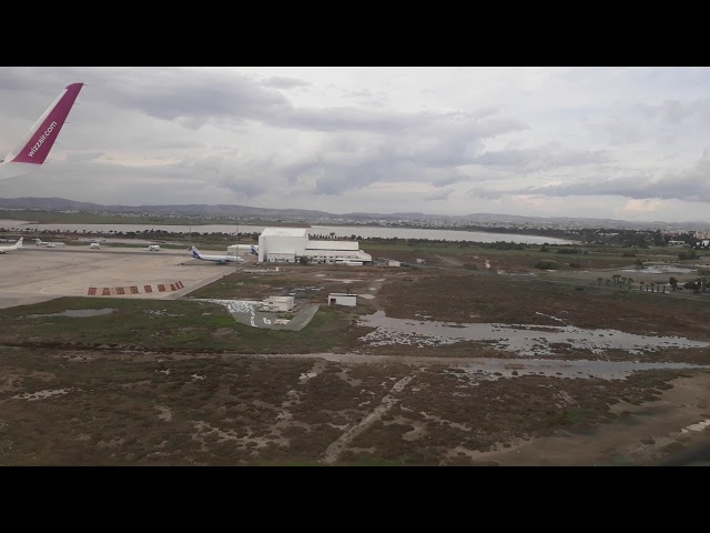 Landing at Larnaca Airport