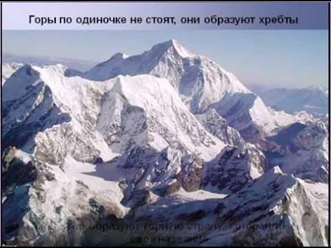 Доклад на тему рельеф земли горы 5407