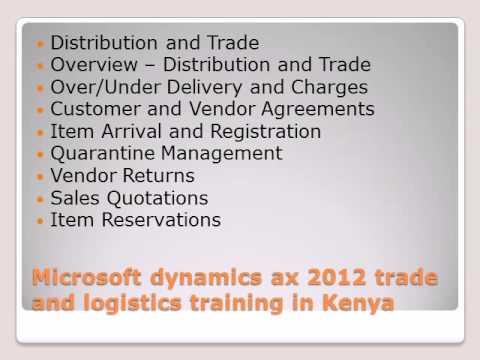 Microsoft dynamics ax 2012 trde and logistics training in kenya