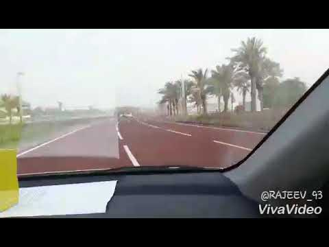 Newly inaugurated red colour road in Qatar @Al bidda street