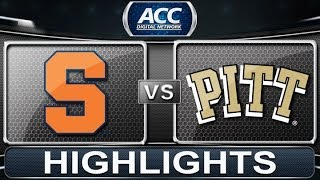 Syracuse vs Pittsburgh | 2014 ACC Basketball Highlights