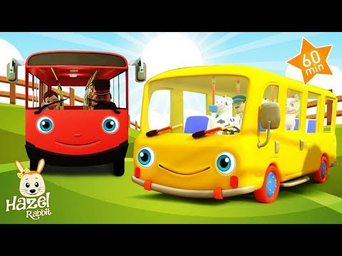 The Wheels on the BUS 🚌 & More Nursery Rhymes for Kids ! Baby Songs English