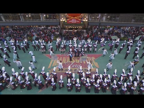 Woodland High School Wildcat Marching Band Perform In Macy S Thanksgiving Day Parade