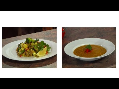 Learn to Cook Vegetarian  Kerala Spiced Pumpkin Soup & Rams Red Rice Pilau