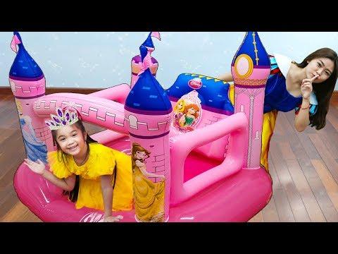 Hana Pretend Play Dress up w/ Inflatable Disney Princess Castle Kids Toys