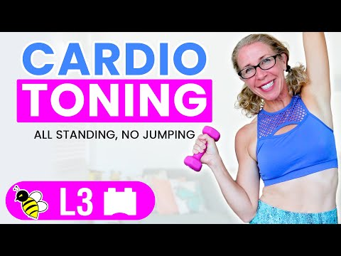15 Minute Low Impact CARDIO TONING Workout 😅 BURN 150 Calories