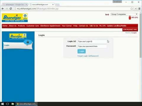 Online Gas Booking On EBharatGas