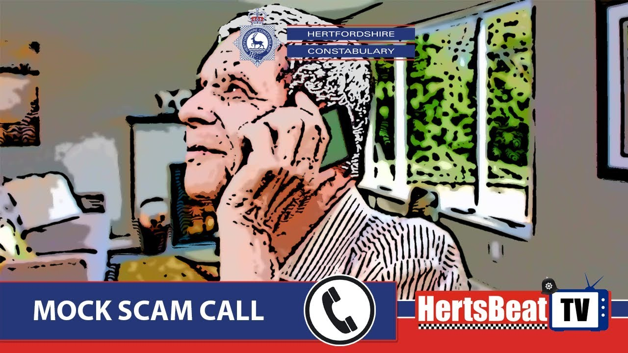 Do you know who is on the telephone? Police release mock