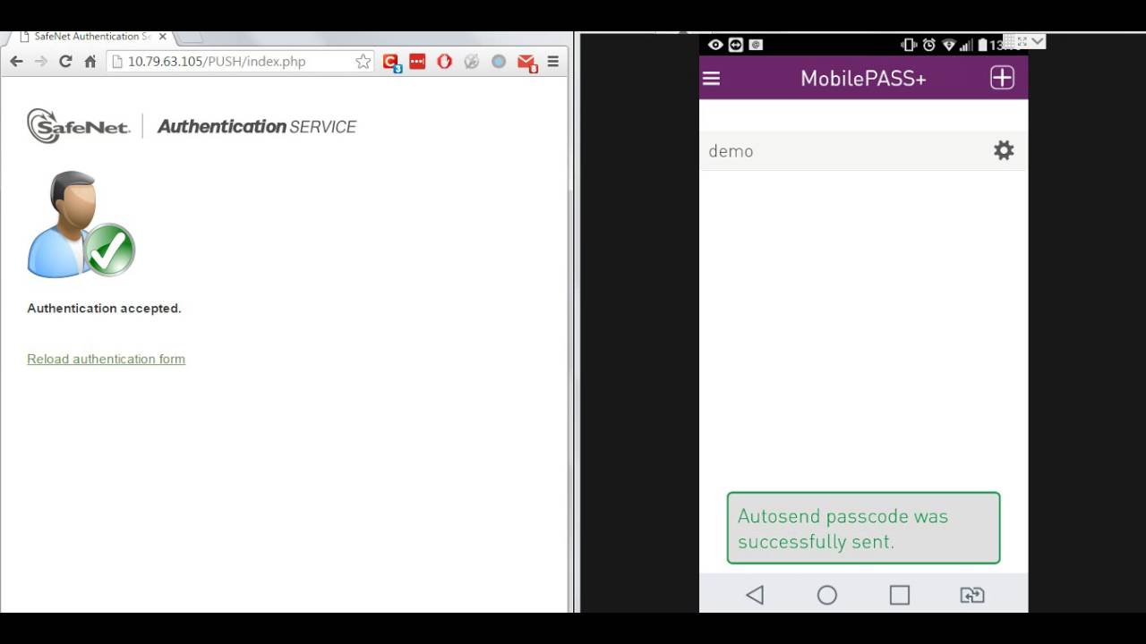 MobilePass+ for SafeNet Authentication Service