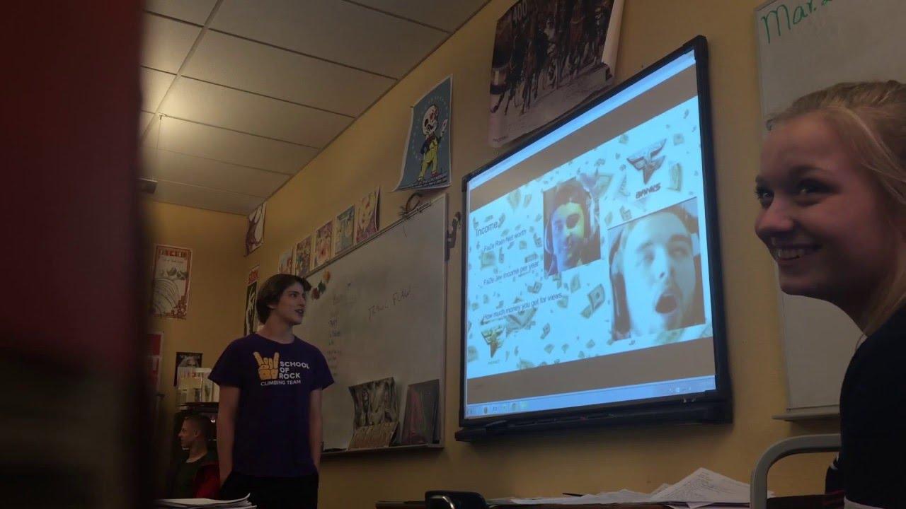Kid does his High School presentation on Faze Clan @FazeClan @Faze_Rain @FazeJev