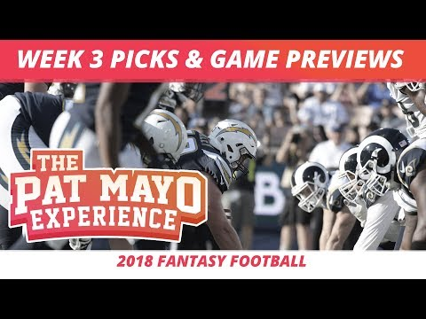 2018 Fantasy Football — Week 3 Picks, NFL Game Previews, Projections, Injuries And Survivor