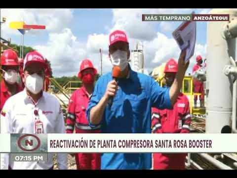 Trabajadores de Pdvsa reactivan planta en Anaco para incorporar 120 millones de pies cúbicos de gas