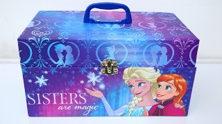 Disney Frozen Elsa Sisters Secret Magic Box DIY Frozen Elsa Super Glitter Slime