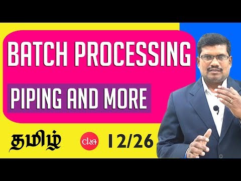 12. Piping and MORE Command - Batch Processing & C Programming