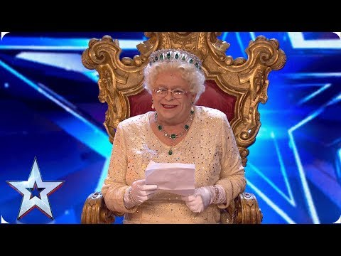 OMG! Did the Queen just say that?! | Auditions | BGT 2019