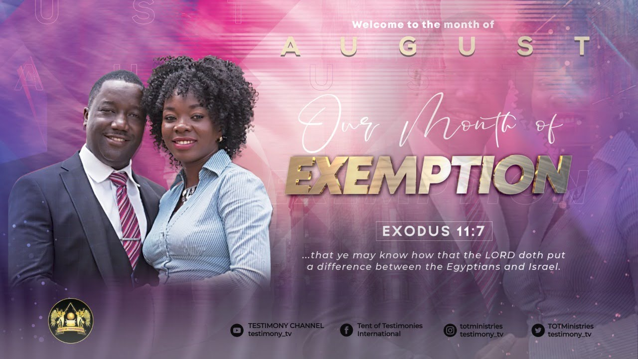 SUNDAY SERVICE: 09/08/2020; KINGDOM MYSTERIES FOR FINANCIAL EXEMPTION