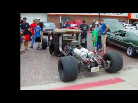 Rat Rod with rear engine (Mid Engine) 2016 July 4th Seward Nebraska