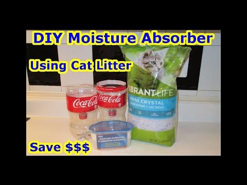 AWESOME DIY Moisture Absorber - CAT LITTER SILICA GEL Cheap Refill Prevent Condensation Mildew Mold