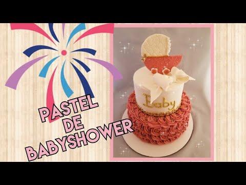 Baby shower girl  cake /pastel para baby shower niña