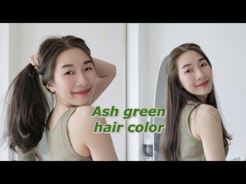 onnimn   💚 ย้อมสีผมเองโทนเขียวหม่น ไม่ฟอก ไม่กัด แถมผมไม่เสีย✨