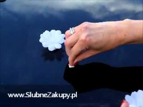 Jak Udekorować Samochód Na ślub I Wesele Kwiaty Sztuczne
