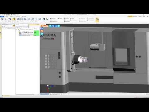 Edgecam 5-Axis Port Machining - Okuma Multus U4000