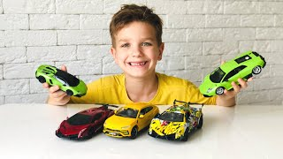 Mark and stories for kids about new Lamborghini cars