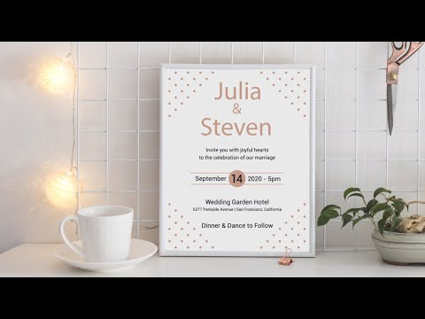 Card Video Wedding Invitation | Save the Date INT 44