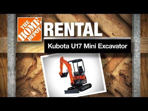 Kubota U17 Mini Excavator | The Home Depot Rental
