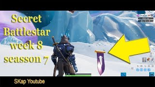 Fortnite - Secret Battlestar Season 7 Week 8 LOCATION (Secret Banner)