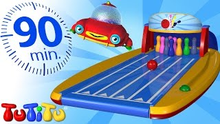 Repeat youtube video TuTiTu Specials | Bowling and Other Popular Toys for Children | 90 Minutes Special