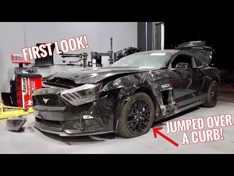 Rebuilding a CRASHED Mustang GT!