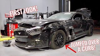 Rebuilding a CRASHED Mustang GT!