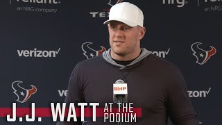 J.J. Watt is ready for playoff atmosphere vs Kansas City Chiefs || Houston Texans Press Conference