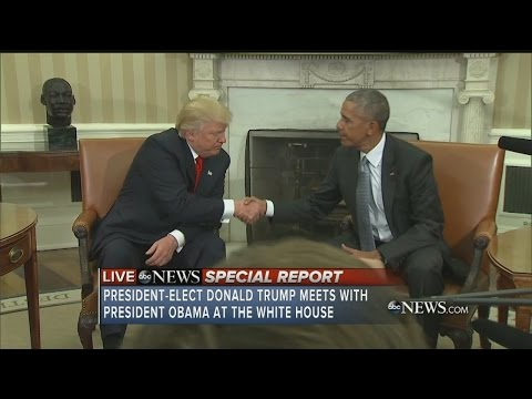 President-elect Donald Trump meets with President Obama at the White House