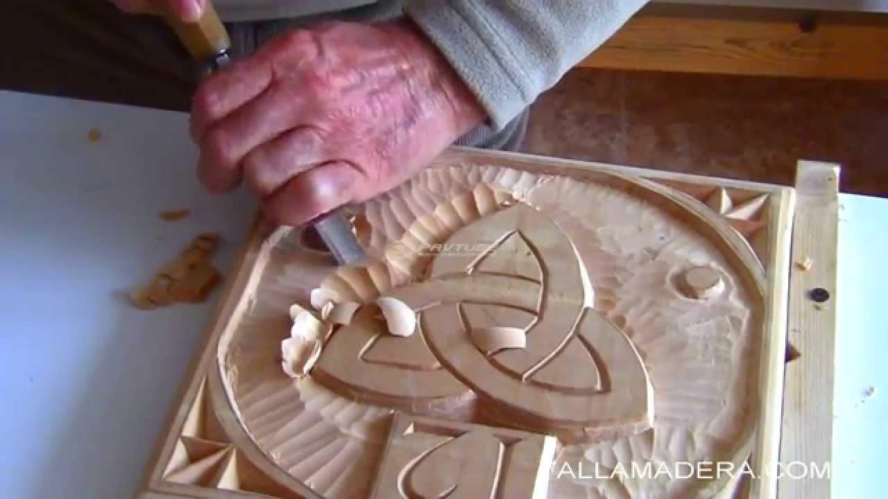Curso fácil de talla en madera (6) parte 1/2 - YouTube