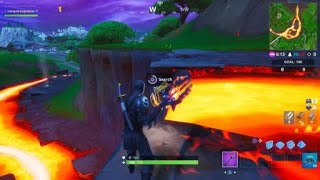 Fortnite - season 8, week 5: secret battlestar at the lava falls, near an orange shipping container