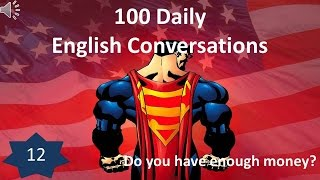 Daily English Conversation 12: Do you have enough money?