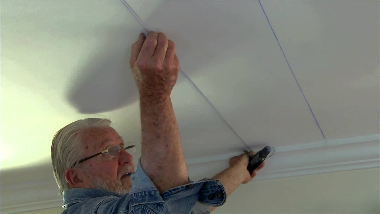 how to install embossed ceiling tiles - youtube