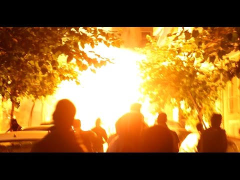 Molotov attack against Exarcheia Police Station (Athens, Greece 17/9/2015)