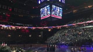 Crowd Sings National Anthem at St. Louis Blues game after historic flooding