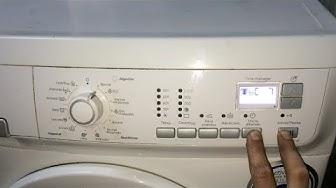 Diagnostico-Reset lavadora Electrolux (EWF 12480 W).[Test washing machine].