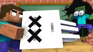 MONSTER SCOOL : GHAST BECAME EVIL VILLAIN , RIP GHAST - Minecraft Animation