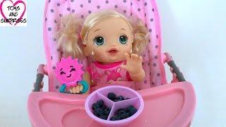 Видео для девочек с куклой Пупсик Беби Элайв капризничает Играем в дочки матери