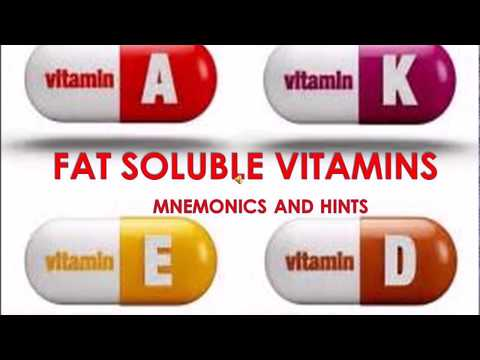 FAT SOLUBLE VITAMINS MNEMONICS AND HINTS