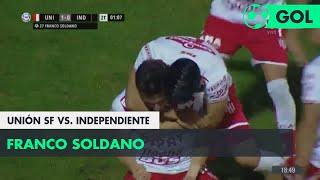 Franco Soldano (1-0) Unión SF vs Independiente | Fecha 27 - Superliga Argentina 2017/2018